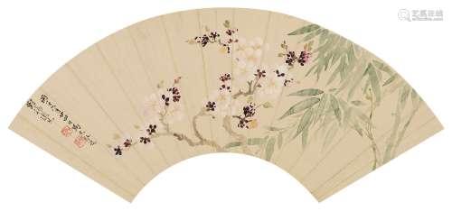 马元驭(1669~1722) 双清图 镜心 设色纸本