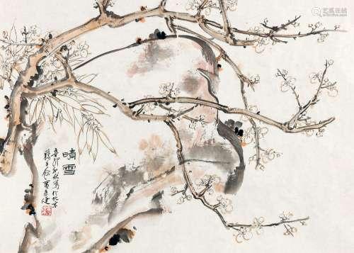 贾广健 2011年作 晴雪 镜心 设色纸本