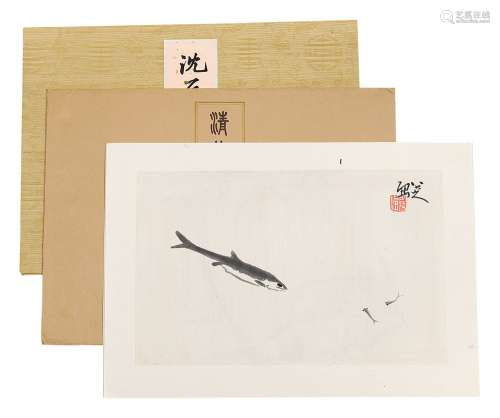 古代画家木版水印册页 (一组)