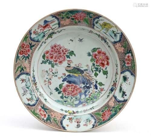 Chine, période Qianlong, XVIIIe sièclePlat en p...