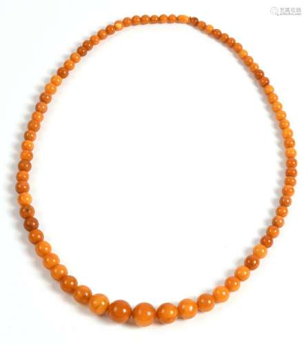 Collier en ambreCollier composé de perles en am...
