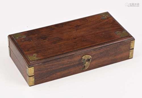 Chine, fin XIXe siècleCoffret en bois à 4 compa...