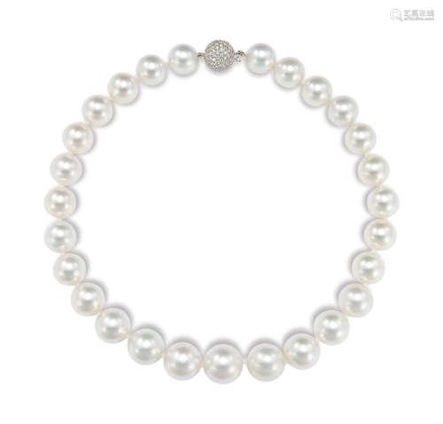 白色南洋珍珠项链 约17.2-13.9mm