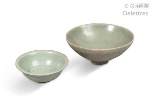 Chine, Longquan, XIIe XIVe siècle. Deux coupes en...
