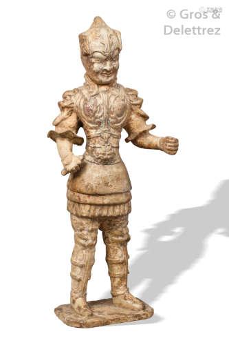 Chine, période Tang Mingqi en terre cuite blanche...