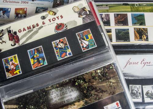 Four folders of modern Royal Mail presentation packs