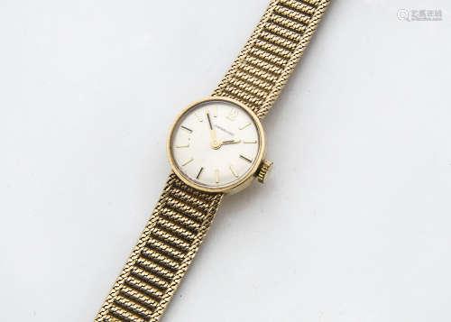 A 1980s Garrard 9ct gold lady's wristwatch