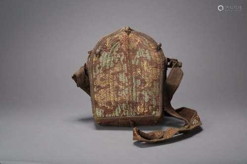 青铜铸造包浆醇厚鎏银释迦牟尼嚓嚓嘎乌盒