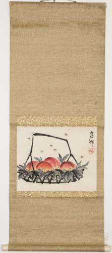 A CHINESE PAINTING OF PEACH