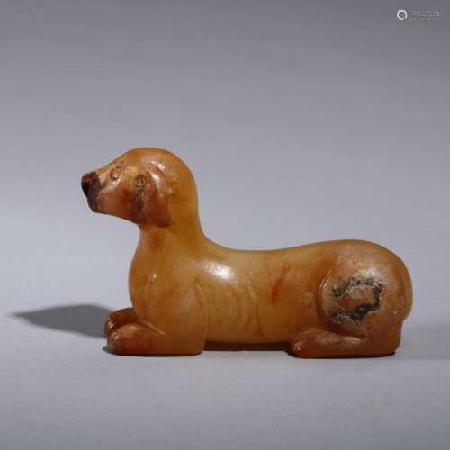 Chinese jade carved dog