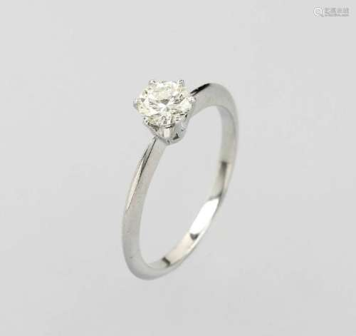 18 kt gold ring with brilliant solitaire