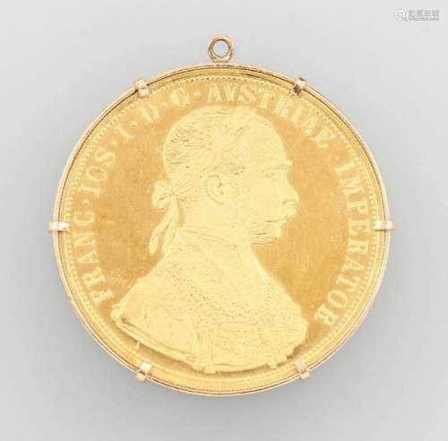 Coin pendant, 4 ducats