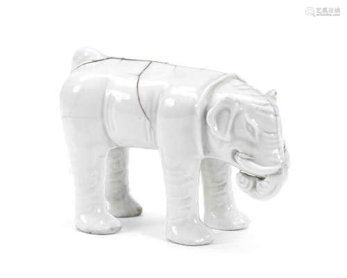 Kangxi A blanc-de-chine elephant