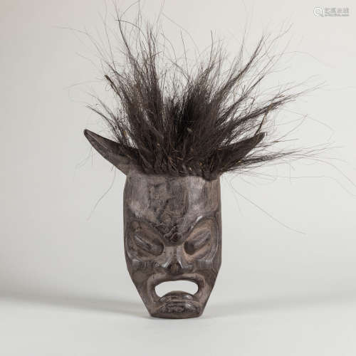 Late 19th Meiji Period Japanese  Wood Mask