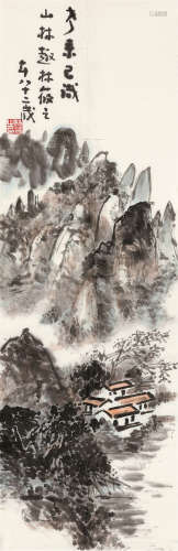 林莜之 2010年作 山水 软片 设色纸本