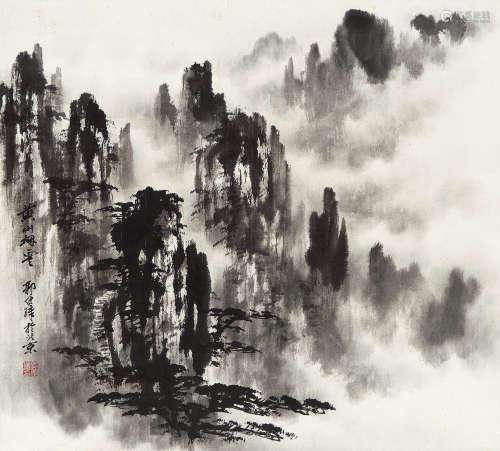 郭传璋(1912~1990) 黄山烟云 镜心 水墨纸本