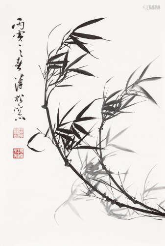 溥佺(1913~1991) 1986年作 风竹 镜心 水墨纸本