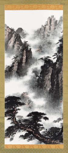 郭传璋(1912~1990) 1980年作 山水 立轴 设色纸本