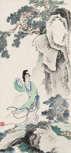 徐操(1899~1961) 仕女 立轴 设色纸本