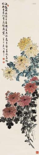 陈半丁(1876~1970) 秋菊 立轴 设色纸本