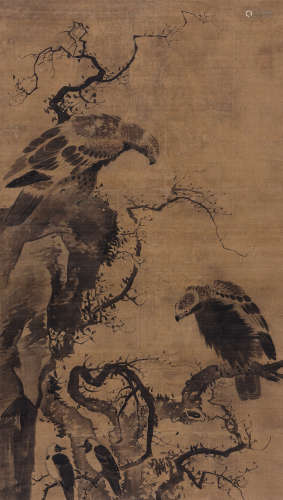 林良(传)(约1428~1494) 英雄到白头 立轴 绢本水墨