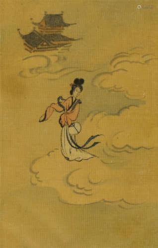 溥儒(1896~1963) 月宫嫦娥 镜芯 绢本设色