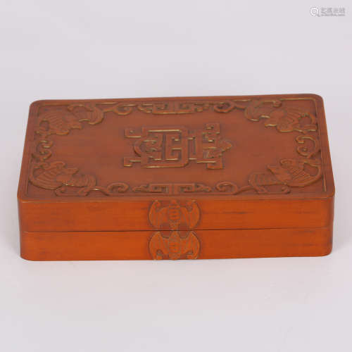 CHINESE BOXWOOD COVER BOX