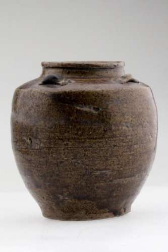 A Rare Nice Chinese Brown Pottery Guan