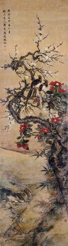 沈铨(清) 1788年作 拟北宋人笔意 立轴 设色绢本