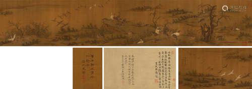王渊(元) 芦雁图 手卷 设色绢本