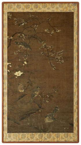 俞奇逢(明) 花鸟 镜框 设色绢本