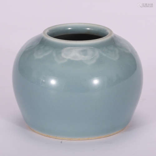 CHINESE BLUE GLAZED WATER COUPE
