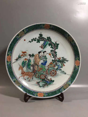 A MULTI-COLORED FIGURE STORY PATTERN PLATE