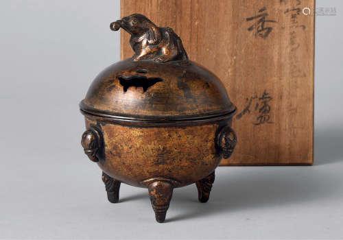 清 铜鎏金香炉