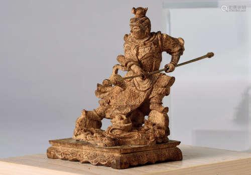 沉香木雕武士像