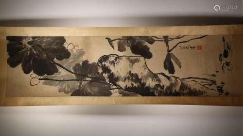 A Chinese Painting Scroll, Ba Da Shan Ren