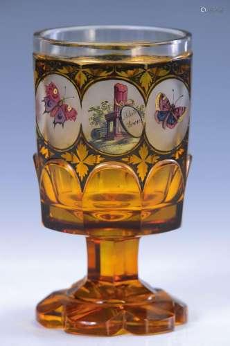 souvenir glass, probably Friedrich Egermann, around 1845