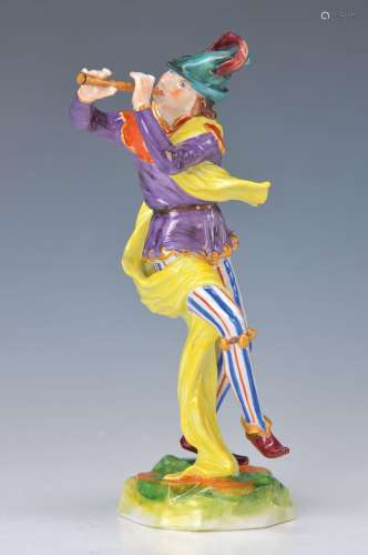 figurine, Volkstedt, 1.H.20th c., Pied Piper with flute