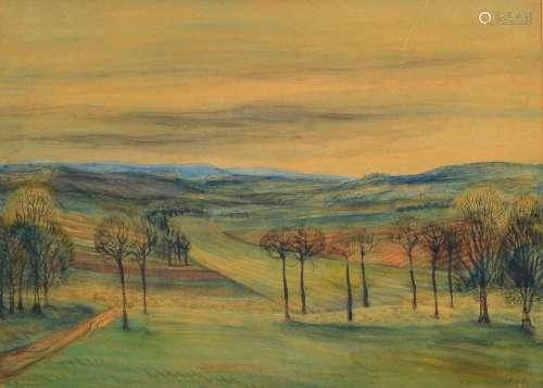 Eugen Croissant, 1898 Landau- 1976 Breitbrunn,landscape in