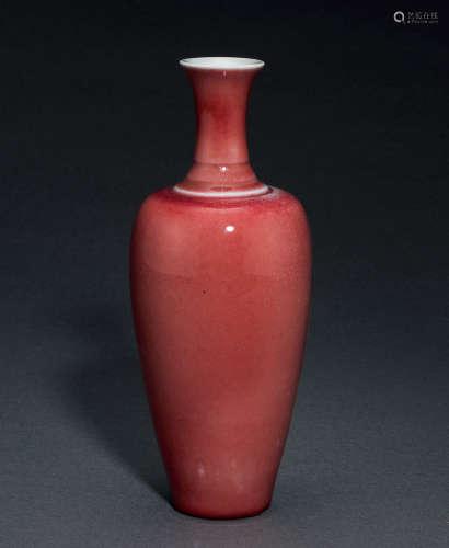 霁红釉花瓶