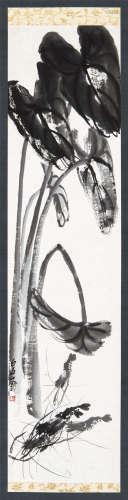 齐白石(1864~1957) 芋虾图 立轴 水墨纸本