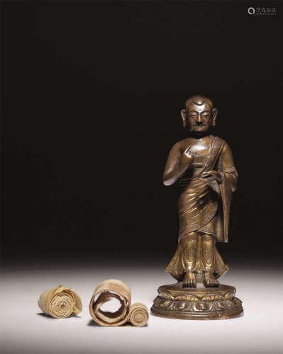 十七-十八世纪 鎏金佛
