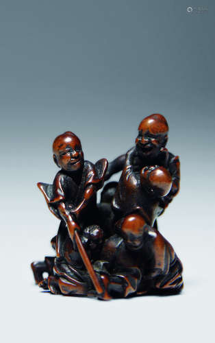 黄杨木微雕人物