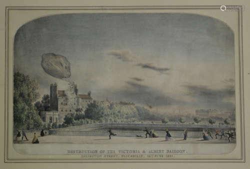 Ackerman & Co (publisher) - 'Destruction of the Victoria & Albert Balloon. Arlington Street,