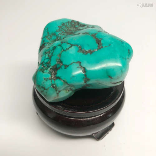 A ROUGH TURQUOISE WITH BASE