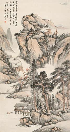 杨逸(1864~1929) 夏山苍翠 立轴 设色纸本
