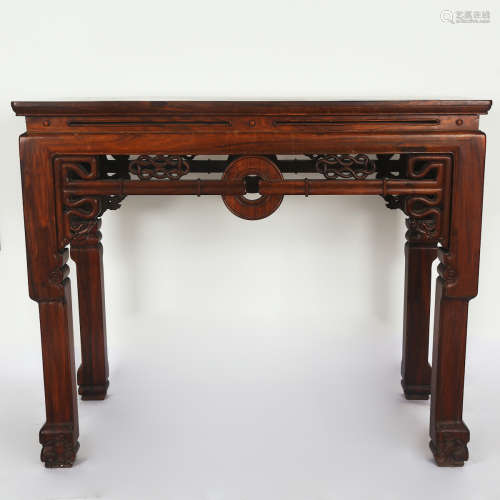 CHINESE HARDWOOD ALTER TABLE