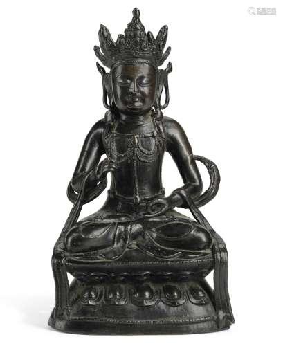 明弘治十四年(1501年)   铜佛坐像 《弘治十四年正月十六》款