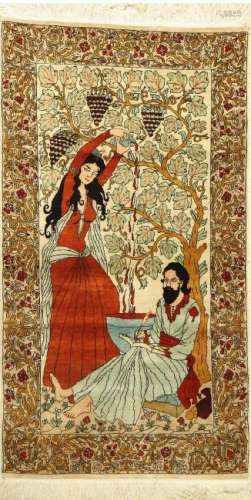 Lahor Rug, Pakistan, approx. 30 years, wool oncotton