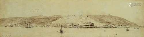 Ferdinand Duboc, 1813-1869 Melun, Panorama view of